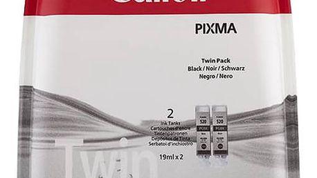 Inkoustová náplň Canon PGI-520BK, 420 stran - originální (2932B012) černá