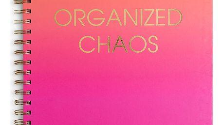 Růžový týdenní plánovač na 12 měsíců Tri-Coastal Design Organized Chaos