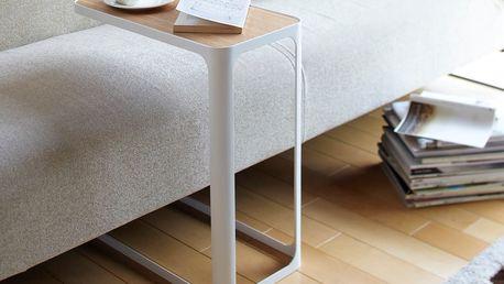 Bílý boční stolek Yamazaki Frame - doprava zdarma!