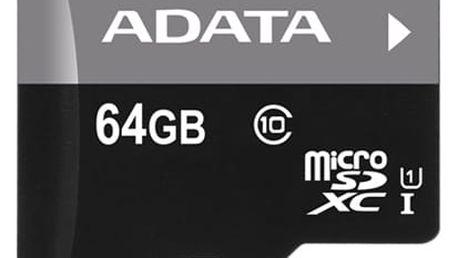 Paměťová karta ADATA 64GB Class 10 UHS-U1 (50R/10W) + čtečka MicroReader Ver.3 (AUSDX64GUICL10-RM3BKBL) černá