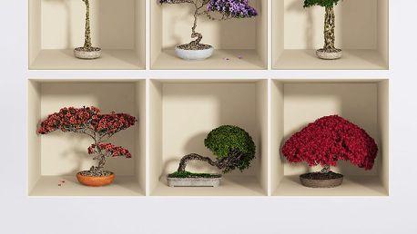Sada 6 samolepek s 3D efektem Fanastick Home