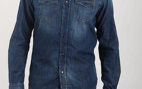Košile Diesel NEW-SONORA CAMICIA Modrá