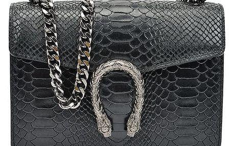 Černá kožená kabelka Isabella Rhea Jane