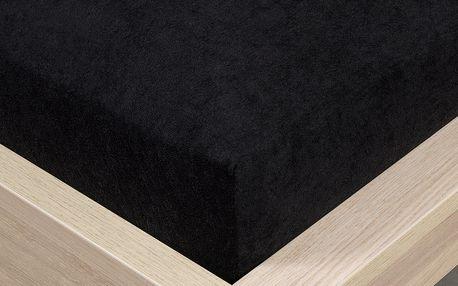 4Home froté prostěradlo černá, 160 x 200 cm