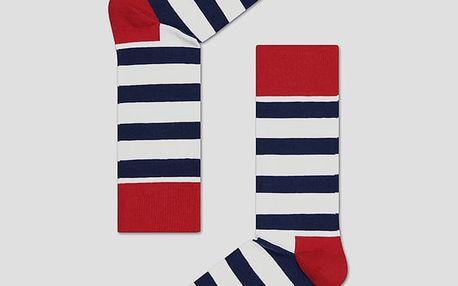 Ponožky Happy Socks barevné pruhované vzor Stripe Barevná