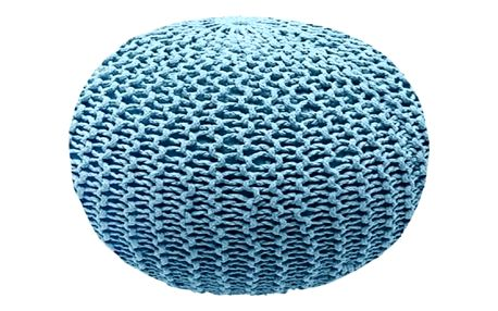 Modrý puf Homemania Dedalo, ⌀ 45cm