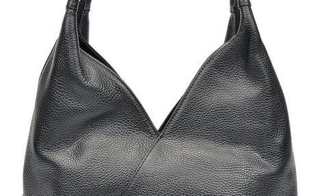 Černá kožená kabelka Roberta M Alcee - doprava zdarma!