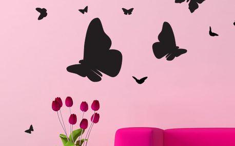 Set samolepky a 15 Swarovski krystalů Ambiance Butterflies