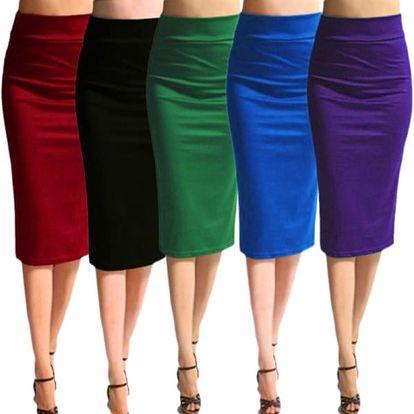Dlouhá sukně s vysokým pasem - 5 barev