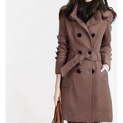 Dámský kabát s velkými knoflíky - 2 barvy