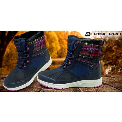 Kvalitní dámské zimní kotníkové boty Alpine Pro