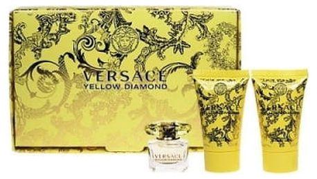 Versace Yellow Diamond dárková kazeta pro ženy toaletní voda 5 ml + tělové mléko 25 ml + sprchový gel 25 ml