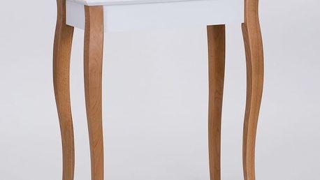 Bílý konzolový odkládací stolek Ragaba Console,délka65cm - doprava zdarma!