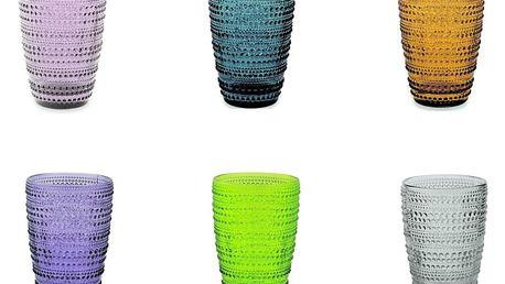 Sada 6 barevných sklenic Villa d'Este Spritz, 400ml