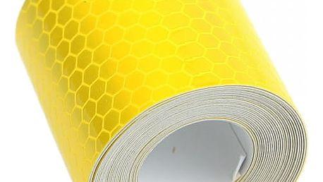 Reflexní bezpečnostní páska 3 m - žlutá barva - dodání do 2 dnů