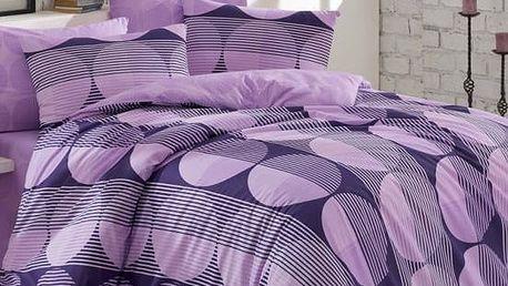 BedTex Bavlněné povlečení Zara lila, 140 x 200 cm, 70 x 90 cm