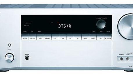 Onkyo TX-NR676E, stříbrná