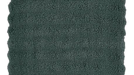 Tmavě zelená osuška Zone One, 70x140cm