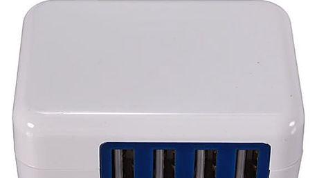 Adaptér na 4 USB kabely v bílé barvě - dodání do 2 dnů