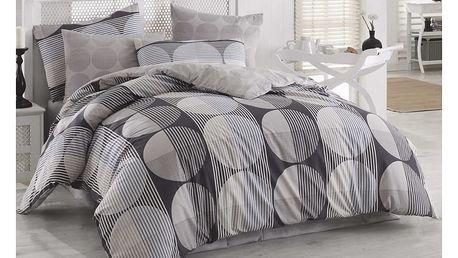 BedTex Bavlněné povlečení Zara šedá, 140 x 200 cm, 70 x 90 cm