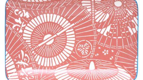 Červeno-bílý porcelánový talíř Tokyo Design Studio Shiki 21 x 13,5cm