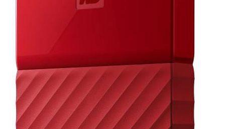 "Externí pevný disk 2,5"" Western Digital My Passport 1TB (WDBYNN0010BRD-WESN) červený + Doprava zdarma"