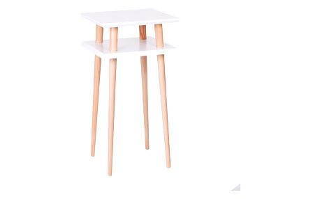 Bílý konferenční stolek Ragaba Square, 43x43cm - doprava zdarma!