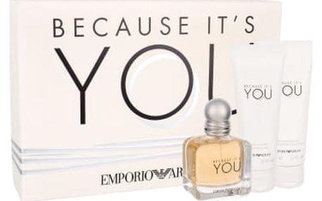 Giorgio Armani Emporio Armani Because It´s You dárková kazeta pro ženy parfémovaná voda 50 ml + tělové mléko 75 ml + sprchový gel 75 ml