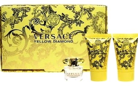 Versace Yellow Diamond 5 ml + sprchový gel 25 ml + tělové mléko 25ml