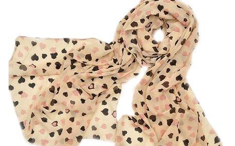 Šátek se srdíčky
