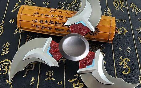 Šurikenový Fidget spinner - stříbrná barva - dodání do 2 dnů
