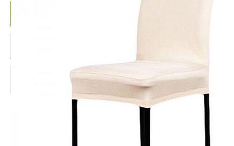 Jednobarevný potah na židli - 11 barev - béžová - dodání do 2 dnů