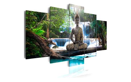 Vícedílný obraz na plátně Artgeist Buddha, 100x200cm - doprava zdarma!
