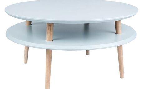 Světle šedý konferenční stolek Ragaba UFO,⌀70cm - doprava zdarma!