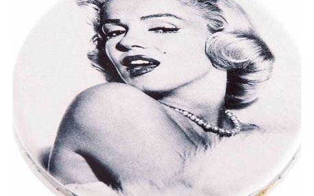Kapesní kulaté zrcátko Marilyn Monroe Kiss kovové