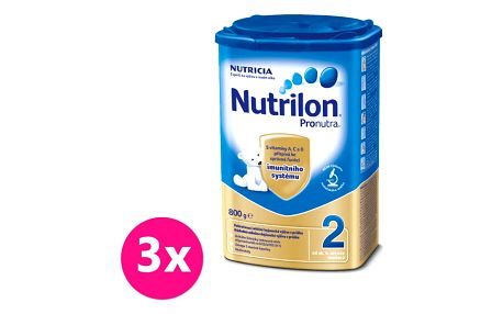 3x NUTRILON 2 ProNutra (800g) - kojenecké mléko