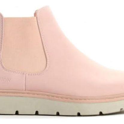 Dámské růžové kotníkové boty Beau 055