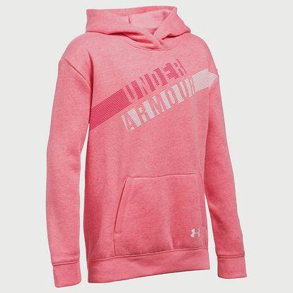 Mikina Under Armour Favorite Fleece Hoody Růžová