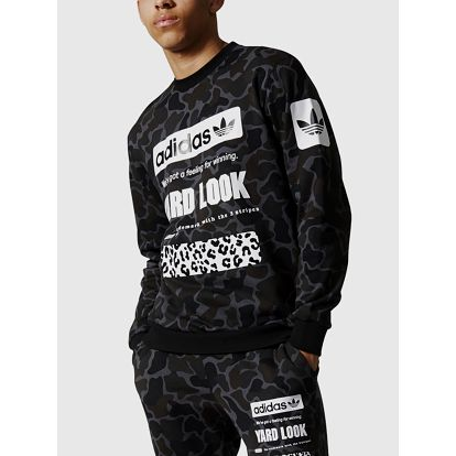 Mikina adidas Originals STREET CAMO CR Černá