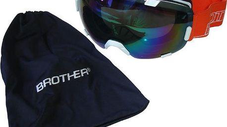 Lyžařské brýle s velkým zorníkem B298 - bílé