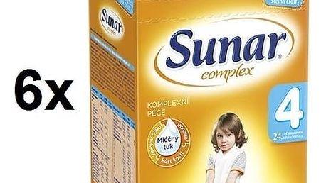 Kojenecké mléko Sunar Complex 4, 600g x 6ks + Doprava zdarma
