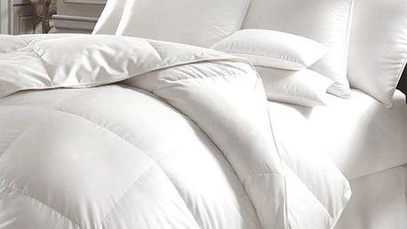 Prošívaná přikrývka s polštářem z vysoce kvalitního dutého vlákna vhodná pro alergiky!