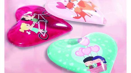 Veselé magnetky z lásky ve tvaru srdce