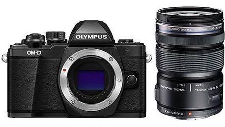 Digitální fotoaparát Olympus E-M10 II 1250 + objektiv 12-50mm 3,5-6,3 (V207050BE010) černý + Doprava zdarma