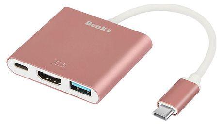 Benks USB-C 3 v 1 HUB 6948005937942