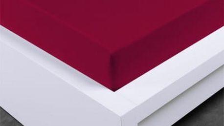 XPOSE ® Jersey prostěradlo Exclusive jednolůžko - bordó 90x200 cm