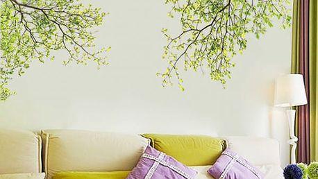 3D Samolepka na zeď - rozkvetlé stromy
