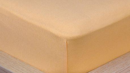 4Home Jersey prostěradlo s elastanem meruňková, 160 x 200 cm