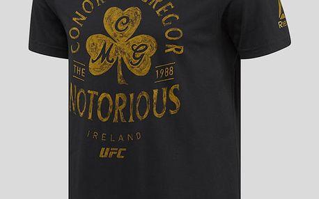 Tričko Reebok UFC FG MCGREGOR ART TEE Černá
