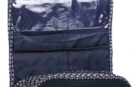 Rozkládací závěsná kosmetická taštička v modré barvě